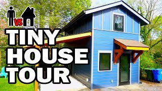 TINY HOUSE TOUR & BLOOPERS! - Man Vs House #9 - Video Youtube