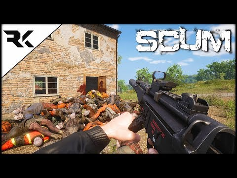 SCUM - Wiping An Entire Zombie Horde With An MP5!!