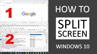 How to Split your Screen in Windows 10 for Multi-Tasking (Snapping Feature)