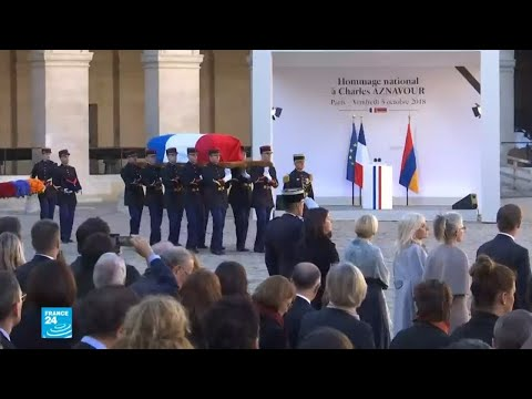 العرب اليوم - شاهد: فرنسا تُودِّع شارل أزنافور في جنازة وطنية رسمية مهيبة