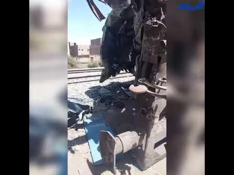 شاهد.. أول لقطات لعربات قطاري سوهاج المدمرة في مصر