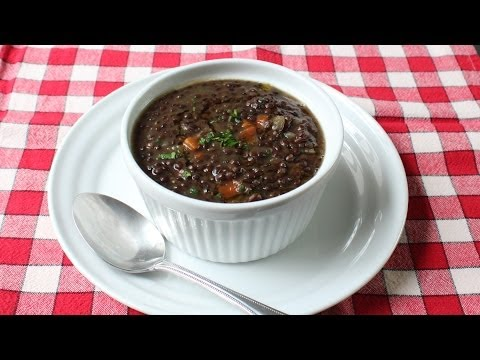 Black Lentil Soup Recipe – How to Make Lentil & Bacon Soup