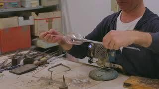 Making Murano Glass Wine Glass In Lampworking Technique In Venice, Italy