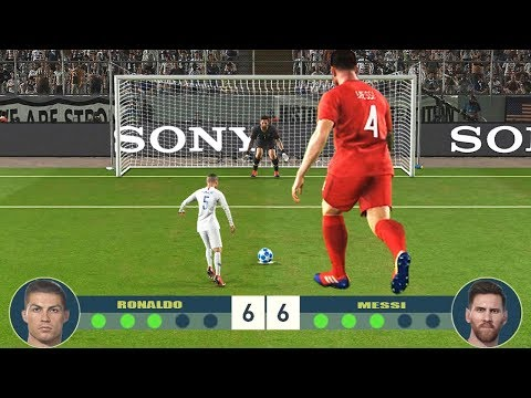 DOWNLOAD: PES 2019 | Giant MESSI VS Tiny RONALDO | Penalty Shootout