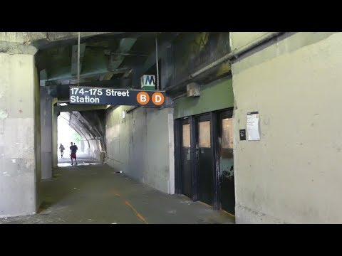 IND Concourse Line: A Tour of 174th-175th St (Temporary Closing Down) R68A B & R68 D Trains