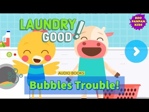 Bubbles Trouble! (laundry room) Audiobooks Lingokids |Boopanpan Kids