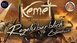 KEMET - Blut & Sand - Regelüberblick - Frosted Games - Pegasus Spiele - Matagot - Brettspiele