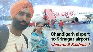 Srinagar vlog 1 srinagar tour chandigarh airport to srinagar airport (Jammu & Kashmir ) Kashmir tour
