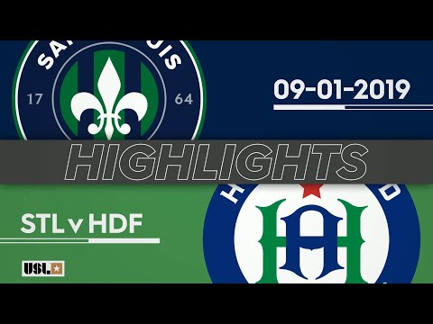 Saint Louis FC - Hartford 3:2. Видеообзор матча 02.09.2019. Видео голов и опасных моментов игры