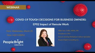COVID-19 TDBO – EP02 Impact of Remote Work Webinar Recording