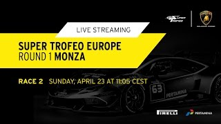 Monza Lamborghini SuperTrofeo Race 2 Live NOW