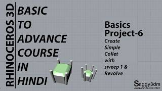 Rhino Basics in Hindi - 07 Introduction of Surface - saggy3dm