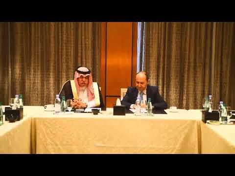 المهندس/عمرو نصار وزير التجارة والصناعة خلال جلسة المباحثات مع نظيره السعودى