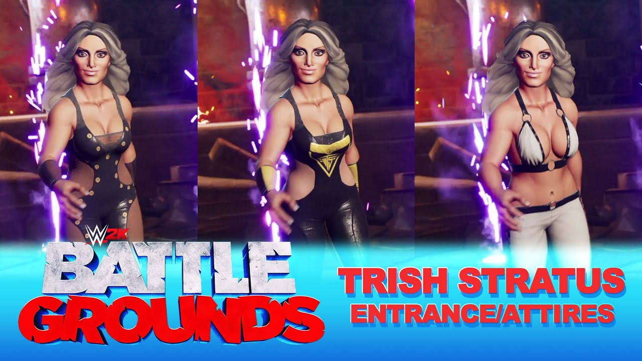 WWE 2K Battlegrounds: Trish Stratus Entrance/Attires