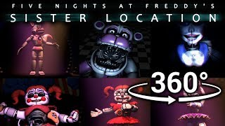 360°| Best FNAF Sister Location Compilation Part 1 [SFM] [VR Compatible]