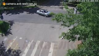 Серьёзная авария, г. Лыткарино, п-к улиц Комсомольская и Первомайская, 23.07.2017
