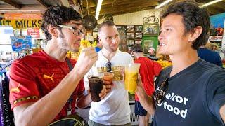 American Food!! EXOTIC FRUIT SHAKES + Gator Kebabs! 🐊 EVERGLADES - Florida, USA!