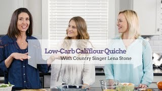 Low-Carb Quiche Using Cauliflower Pizza Crusts With Country Singer Lena Stone