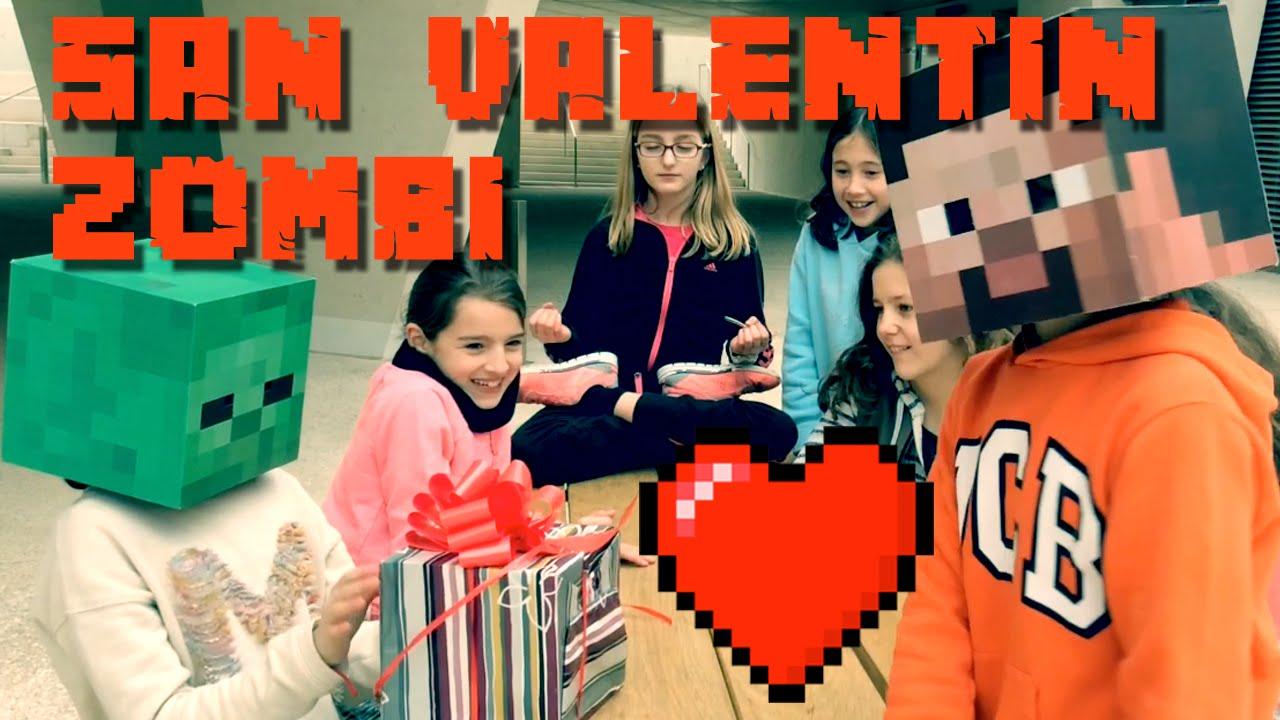 SAN VALENTIN ZOMBI - Steve Minecraft en la vida real