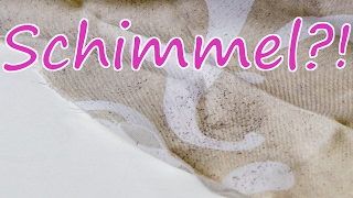 Schimmel im Bad & verschimmelter Duschvorhang entfernen & reinigen?! Versuch mit Zironensäure.......