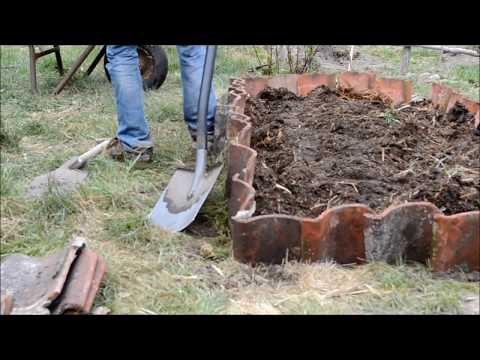 Beetumrandung mit Dachziegeln bauen
