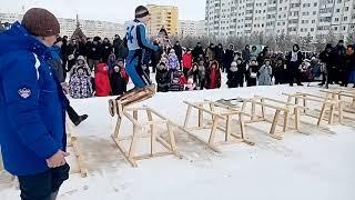 День оленевода Надым 2020,  прыжки через нарты