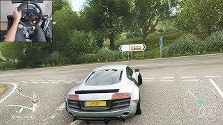 900bhp Twin-Turbo Audi R8 V10 Plus - Forza Horizon 4   Logitech g29 gameplay