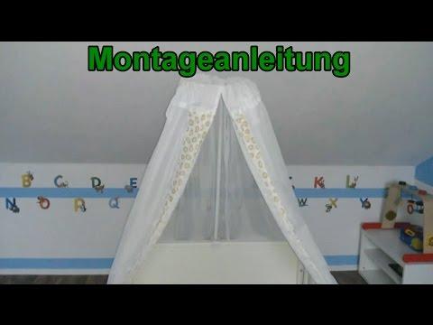 Himmelstang & Himmel Montage für Babybett / Stubenwagen / Wiege / Kinderbett / Anleitung