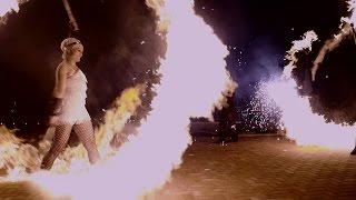 Feuershow LET'S SWING von Sabrina Wolfram ART PROJECT