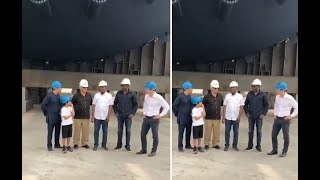 Aliko Dangote The Trillionaire And Femi Otedola At  Dangote Refinery