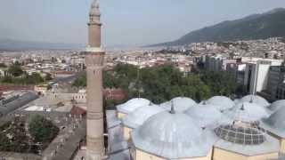 Bursa Ulu Cami Minaresinden Bursa Manzarası