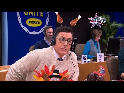 Stephen Colbert's Thanksgiving Turkey Tips (Part 1)