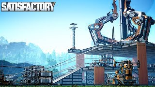 LAUNCHING THE SPACE ELEVATOR AND BUILDING AN ASSEMBLY LINE IN SATISFACTORY - Satisfactory Gameplay
