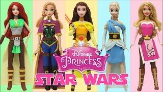 """Play Doh """"Disney Princess"""" Frozen Elsa Anna Ariel Aurora Belle Star Wars Jedi Costumes"""