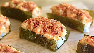 EASY BAKED SUSHI   Crunchy Teriyaki Recipe