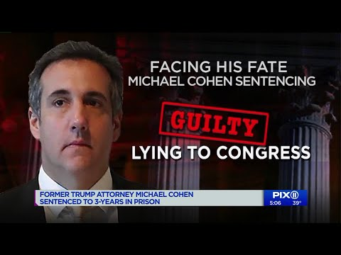 Michael Cohen, ex-Trump lawyer, sentenced to 3 years in prison