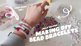 Making Simple Bead Bracelets! 🍭 | Jelly Record.