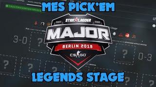 CS:GO Starladder Major 2019 - Mes Pick'Em pour le Legends Stage