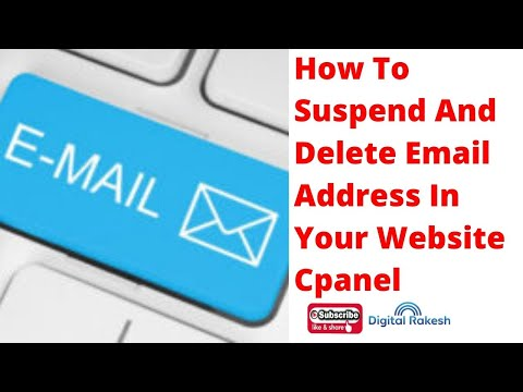 Suspend and delete email address in your website cpanel