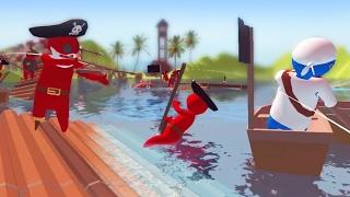 MOBILE TABS GAME ON RAFTS! - Stupid Raft Battle Simulator | Pungence