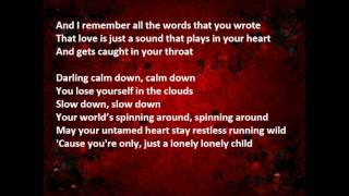 CHRISTINA PERRI Lonely child lyrics