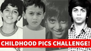 Guess the Bollywood Actors by THEIR CHILDHOOD Pictures🤔 | Bollywood Quiz Video 2019😄