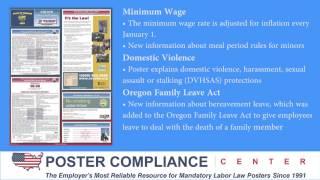 Oregon Labor Law Poster Update 12/13