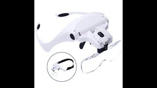 Head Mount Magnifying Glasses with Light