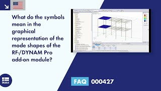 FAQ 000427 | <p> What do the symbols mean in the graphical representation of the mode shapes of the RF-/DYNAM Pro add-on module? </p>