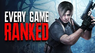 Ranking EVERY Main Resident Evil From Worst To Best