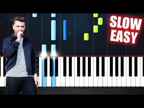 Sam Smith - I'm Not The Only One - SLOW EASY Piano Tutorial by PlutaX