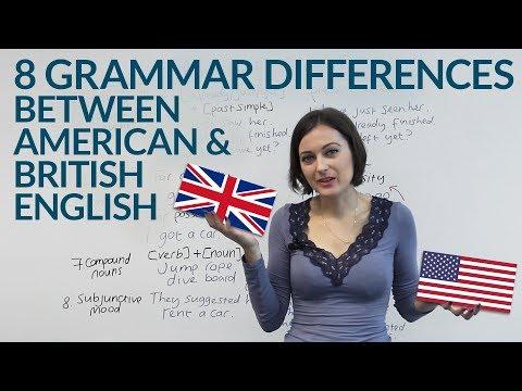 American English & British English - 8 Grammar Differences