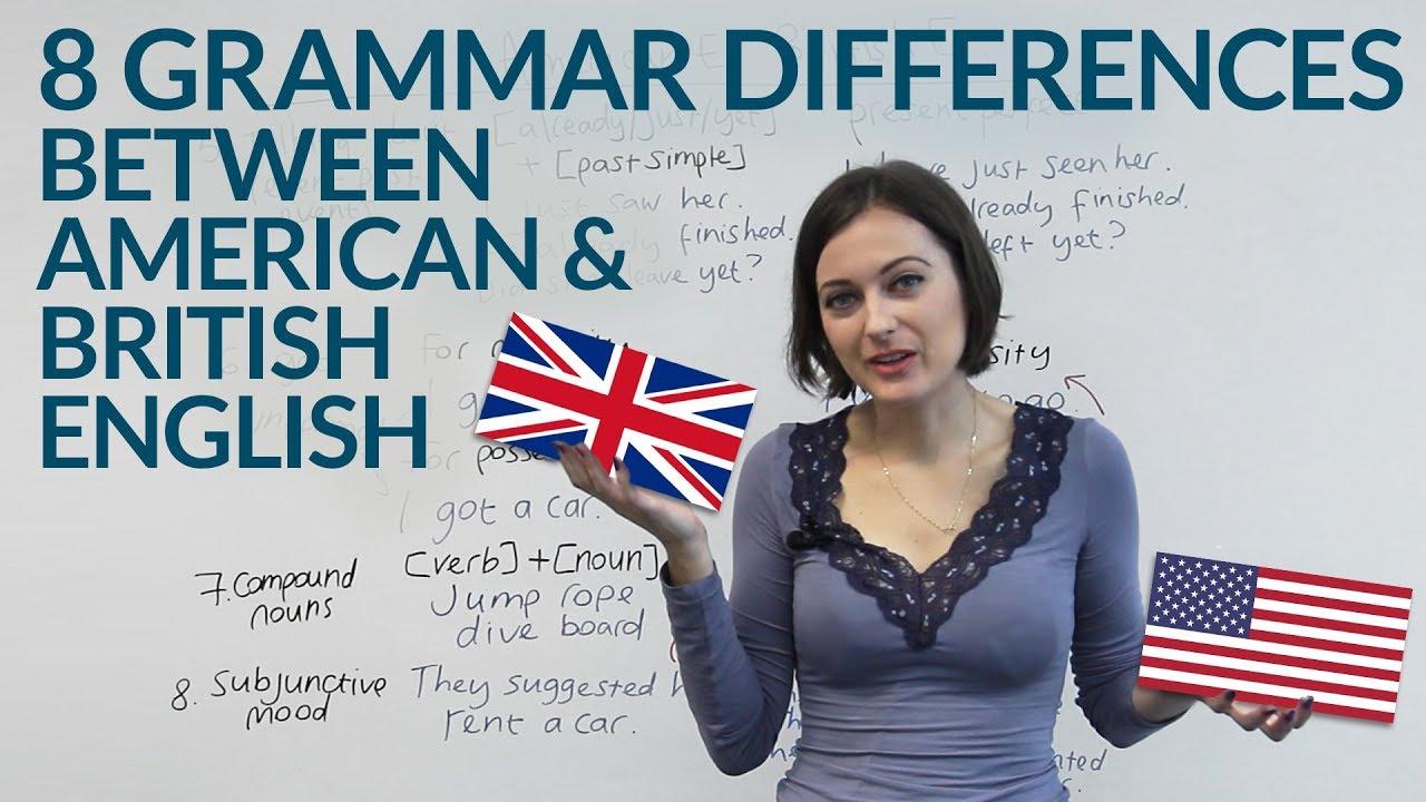 American English & British English – 8 Grammar Differences · engVid