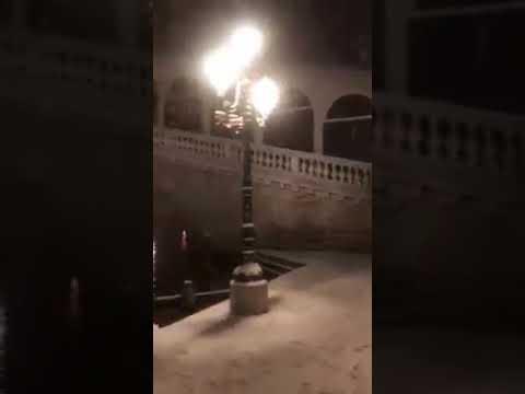 VENEZIA: neve abbondante il 28 Febbraio [VIDEO]